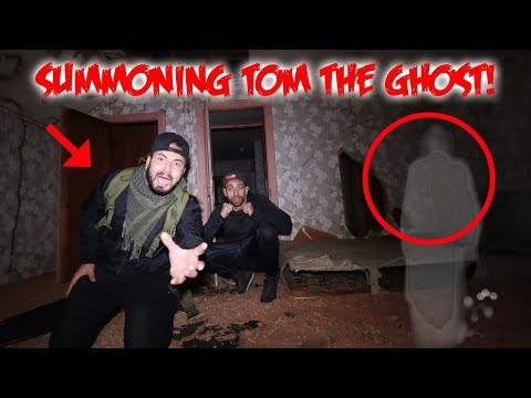 SUMMONING TOM THE DEMON GHOST IN HIS HAUNTED HOUSE WITH SPIRIT BOX!
