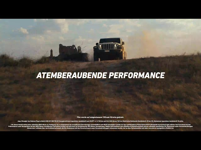 Der Jeep® Wrangler 4xe Plug-in-Hybrid | Atemberaubende Performance