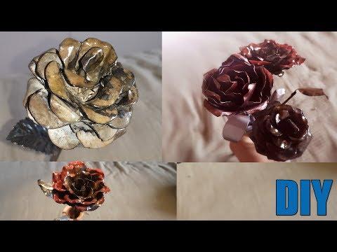 You can do it - Homemade custom Metal ROSE ! easy DIY
