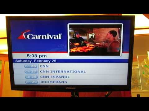 Carnival Cruise TV Channel Guide