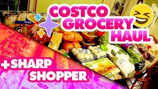 Large Family Costco Grocery Haul | + Sharp Shopper Grocery Outlet | $722 Total