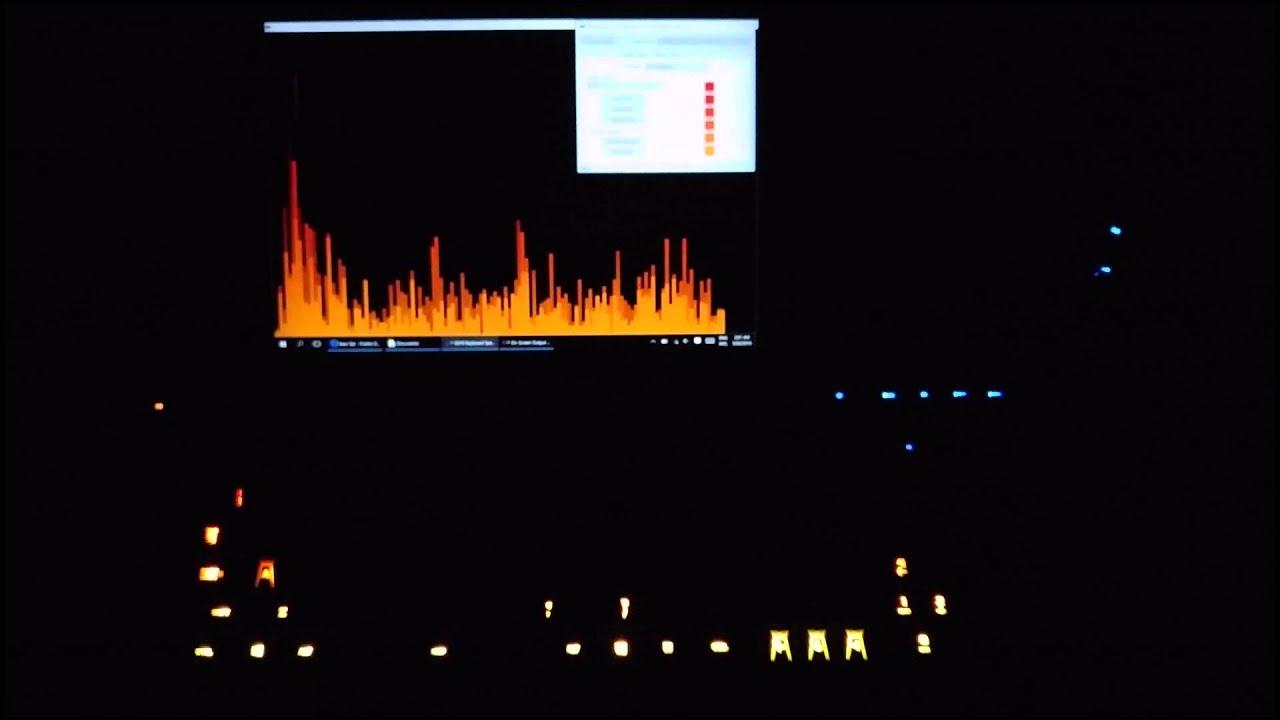 2 8 0] Logitech Keyboard Spectrogram (Audio Visualisation
