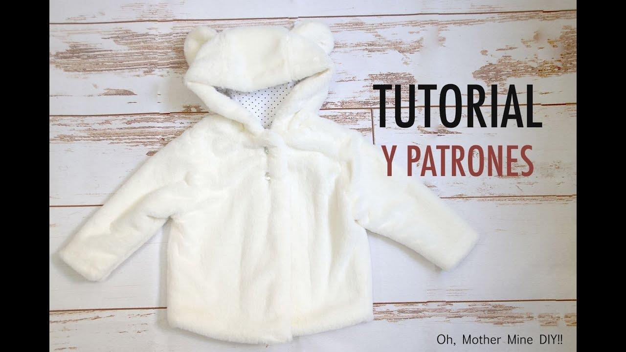 Patrones abrigo de oso para niños (gratis hasta talla 7 años) - YouTube