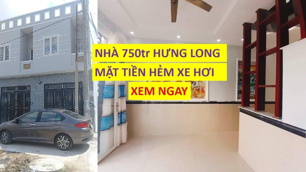 NEW Bán nhà chợ Hưng Long Bình Chánh Hẻm xe hơi SHR chính chủ giá đầy đủ 750tr LH 0906485209