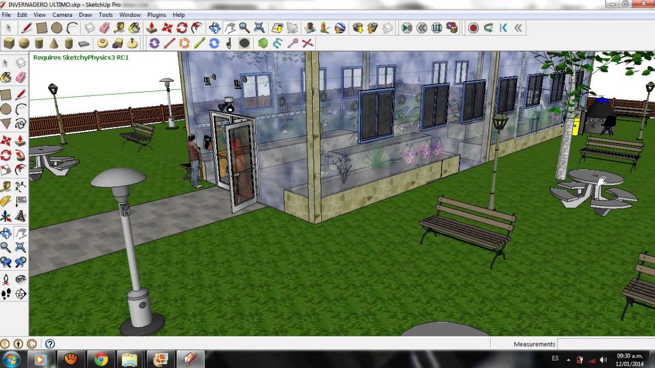 Invernadero inteligente dise o sketchup pro youtube Diseno de invernaderos pdf
