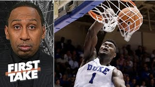 Zion Williamson's 'reckless abandon' is a cause for concern - Stephen A. | First Take