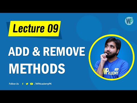 Lecture 09 - jQuery Add & Remove Methods - Learn jQuery in Urdu & Hindi thumbnail
