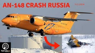 PLANE CRASH - Russia Antonov An-148 Flightradar24 11.2.2018