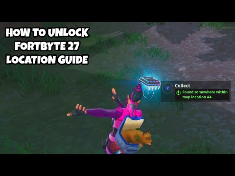 How To Unlock Fortbyte 27 Location Guide | Found Somewhere Within Map Location A4