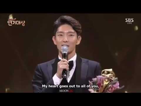 Lee Joon Gi English speech on SBS awards
