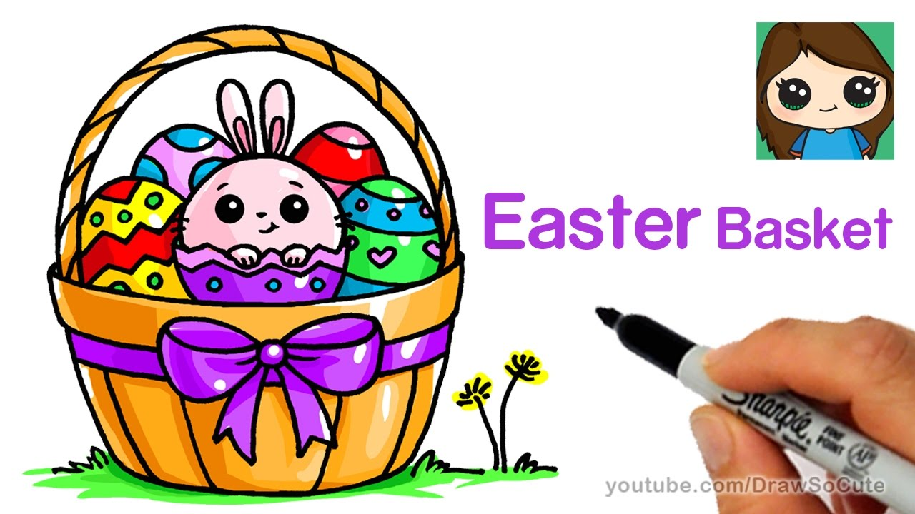 How To Draw A Easter Basket Easy