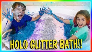 HOLO GLITTER CHALLENGE! | We Are The Davises