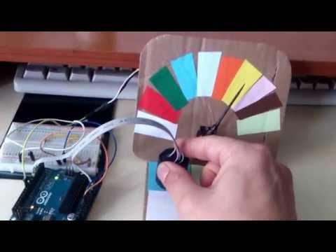 Arduino color sensor  RGB+LDR -with servo
