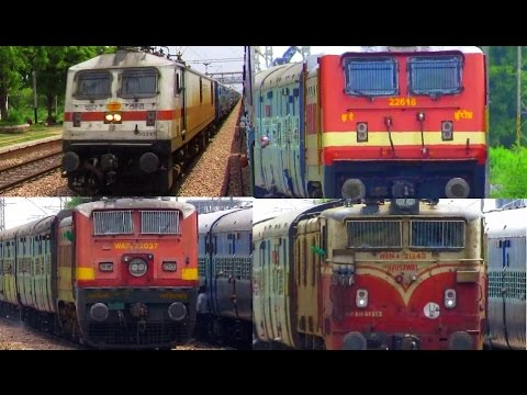 Four Spectacular High Speed Overtakes by Express/Superfast Trains - Indian Railways !!