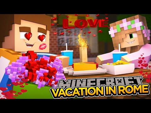 VACATION IN ROME w/ LITTLE KELLY!!! - Minecraft Date Night - Little Donny Adventures.