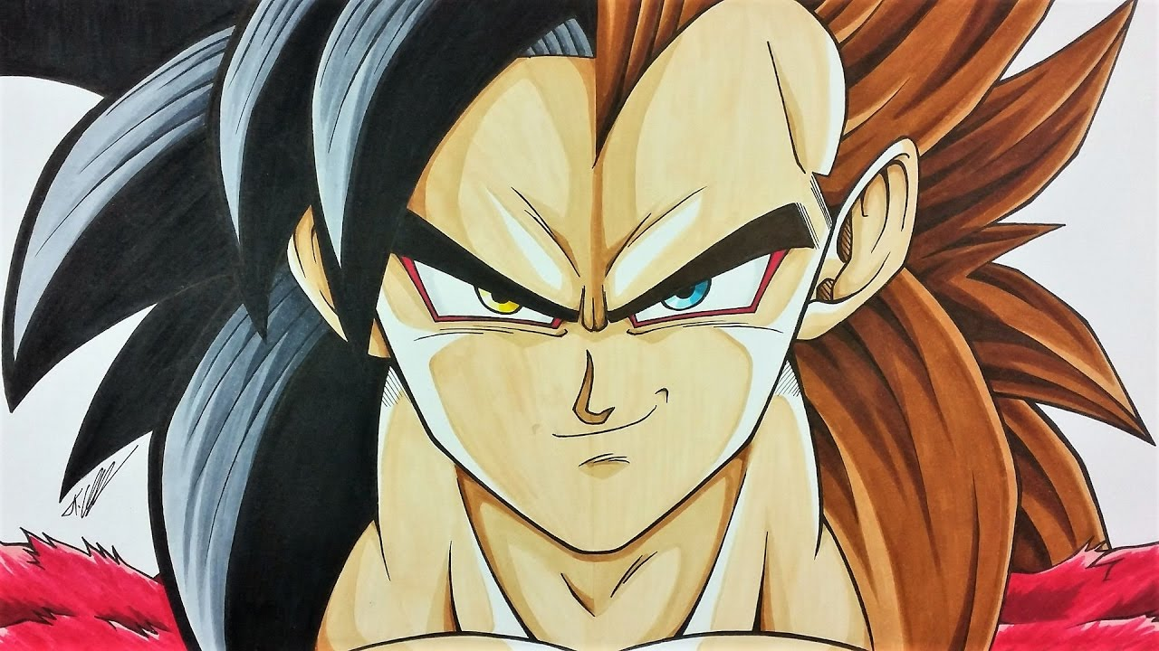 drawing goku vegeta ssj4 dragonball gt tolgart youtube