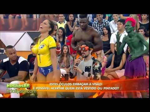 Brazil Football Soccer Body Paint Girl