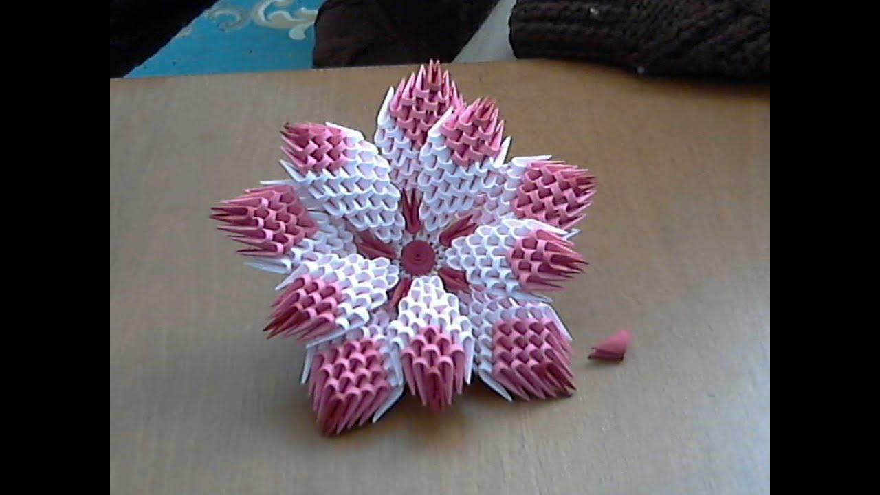 3D Origami Flower Tutorial Model1 YouTube