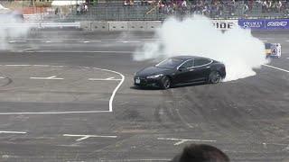 Drifting TESLA Model S