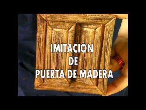 Diy puerta de imitaci n en madera para el belen casa de - Imitacion madera para fachadas ...