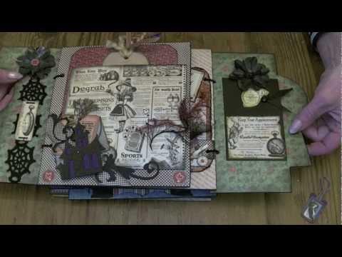 Halloween In Wonderland 8 X 8 Photo Album Graphic 45 Youtube