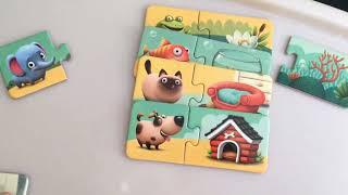Игра для малышей пазлы Puzzlika. Учим животных, цвета и узнаем кто где живет.