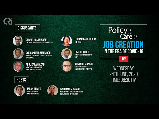 Policy Cafe on Job Creation in the Era of COVID-19
