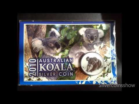 Australian Koala 1 Oz Silver Coin Collection In Illustrated Presentation Card