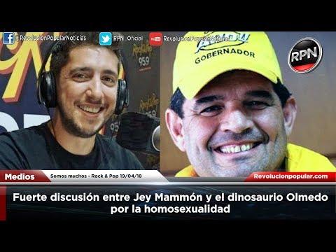Fuerte discusión entre Jey Mammón y el dinosaurio Olmedo por la homosexualidad