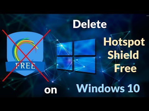 How To Uninstall Hotspot Shield Free On Windows 10 ByNP