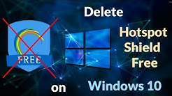 How to uninstall Hotspot Shield Free on Windows 10 byNP
