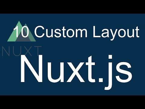 10 Nuxt JS beginner tutorial - create custom layout
