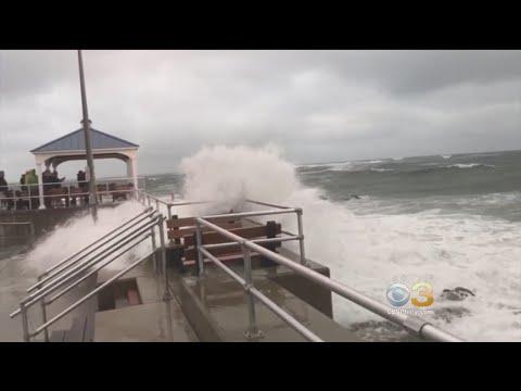 Hurricane Jose Bringing Rough Surf, Beach Erosion To Jersey Shore