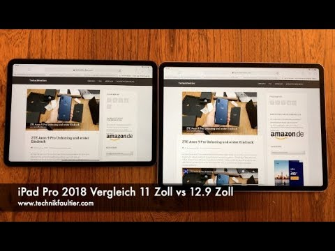 ipad pro 2018 vergleich 11 zoll vs 12 9 zoll youtube. Black Bedroom Furniture Sets. Home Design Ideas