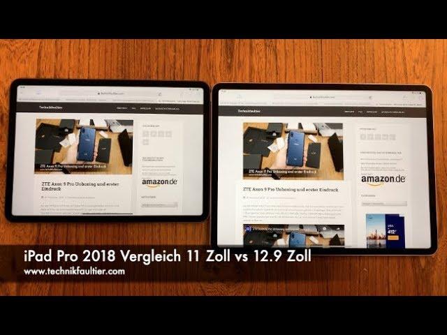 Ipad Pro 2018 Vergleich 11 Zoll Vs 129 Zoll Stream Download