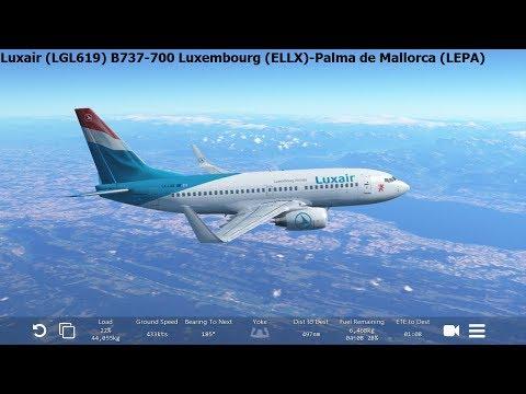 [Infinite Flight Global] Luxair (LGL619) Boeing B737-700 Luxembourg-Palma de Mallorca