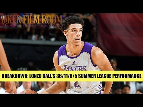 Breakdown of Lonzo Ball's 36/11/8/5 Summer League Performance