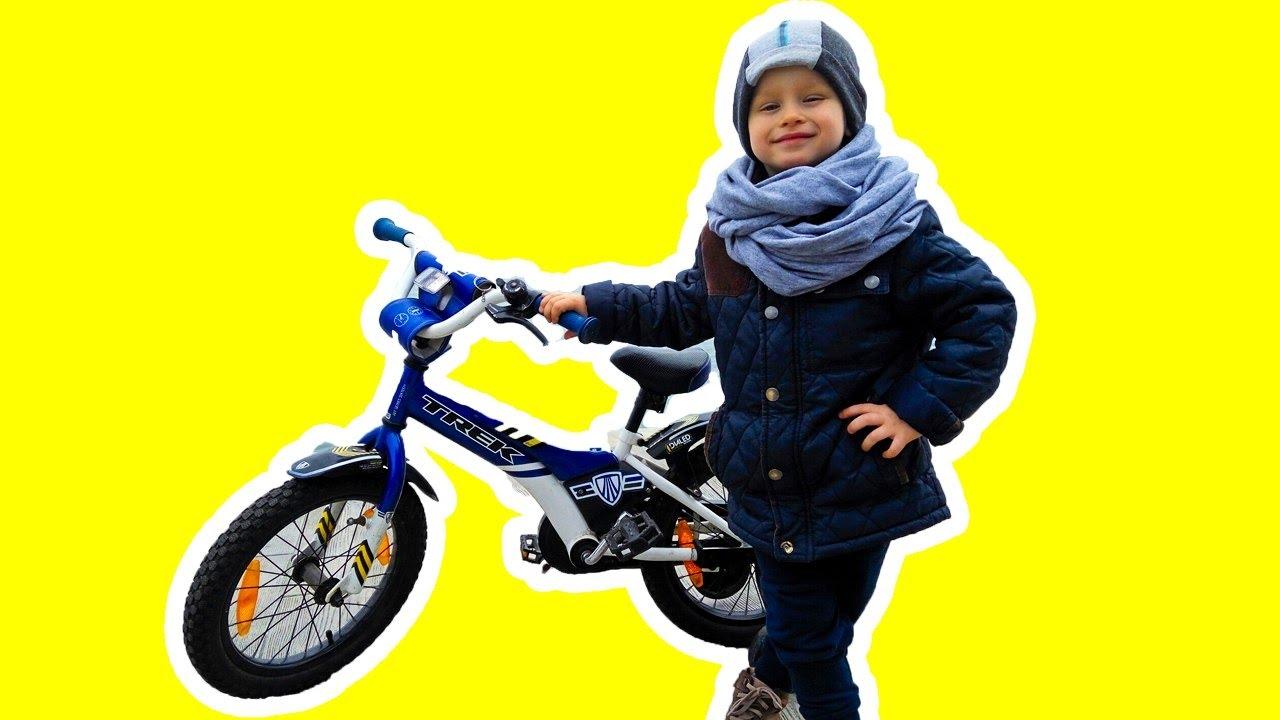 Влог! Гриша ПЕРВЫЙ раз на ВЕЛОСИПЕДЕ! Как научиться кататься на велосипеде за один день!?