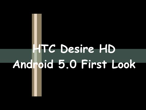 HTC Desire HD Android 5.0 Lollipop first look