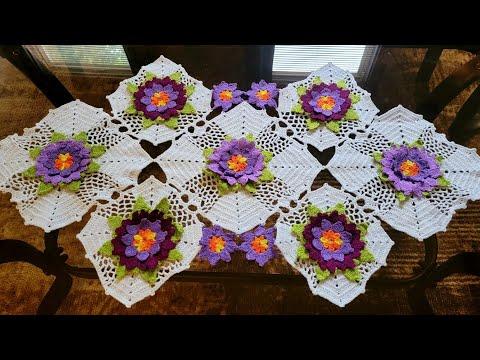 Cuadro para colcha en crochet paso a paso doovi for Camino de mesa elegante en crochet