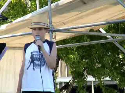 I'm Yours performed by Latrell Pruett an autistic boy...friend of 'Charlie' & Dezi.  Lake Fair 2009