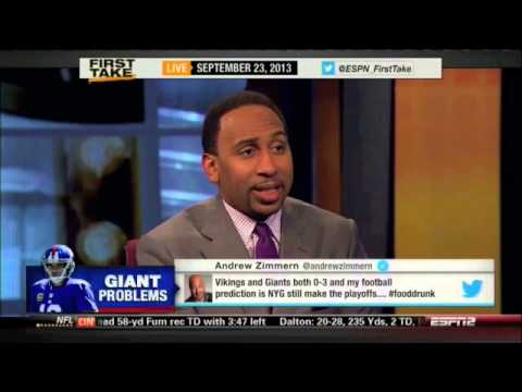 Stephen A Smith rips the New York Giants after los...