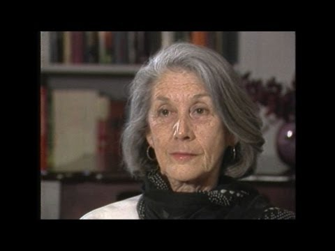 Nobel-winning South African author Nadine Gordimer in 1987