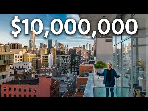INSIDE a $10,000,000 NYC Penthouse with INCREDIBLE VIEWS