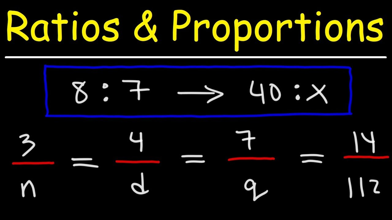 Definition of Ratio and Proportion & the Differences