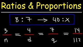 Ratio and Proportion Word Proḃlems - Math