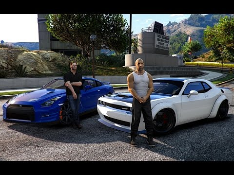 The Fast And The Furious Cars Wallpaper Collection Gta V Vin Diesel Vs Paul Walker Drag Race Fast 8 Youtube