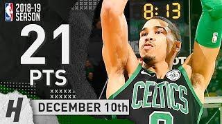 Jayson Tatum Full Highlights Celtics vs Pelicans 2018.12.10 - 21 Pts, 6 Rebounds!