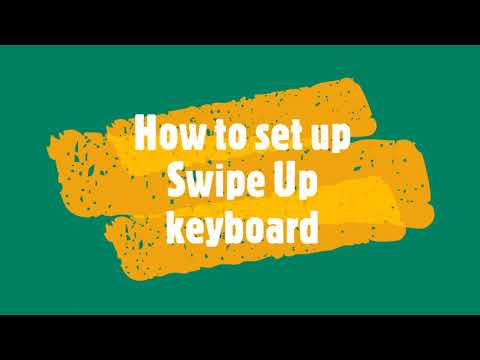 How to set up Swipe Up keyboard on Android Device | enable Swipe or Trace typing