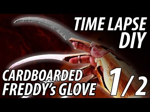 "DIY Freddy's Glove 1/2 ""INSANE"" build made from Cardboard Time Lapse"
